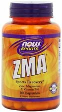 NOW Foods ZMA Zinc Magnesium Vitamin B6 For Muscle Recovery 90 Cap Bottle