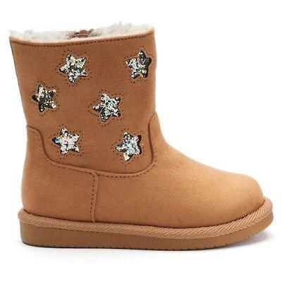 Jumping Beans Little Girl/'s Glitter Star Boots NIB!