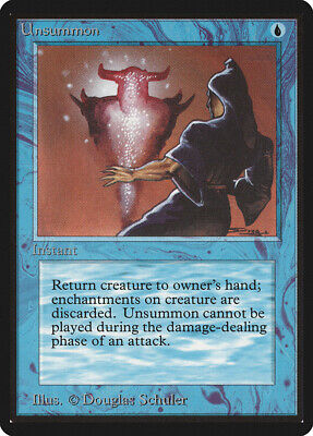 Jump Beta HEAVILY PLD Blue Common MAGIC THE GATHERING MTG CARD ABUGames