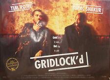 Tupak Shakur  Tim Roth GRIDLOCK'd(1997) Original rolled UK  movie poster