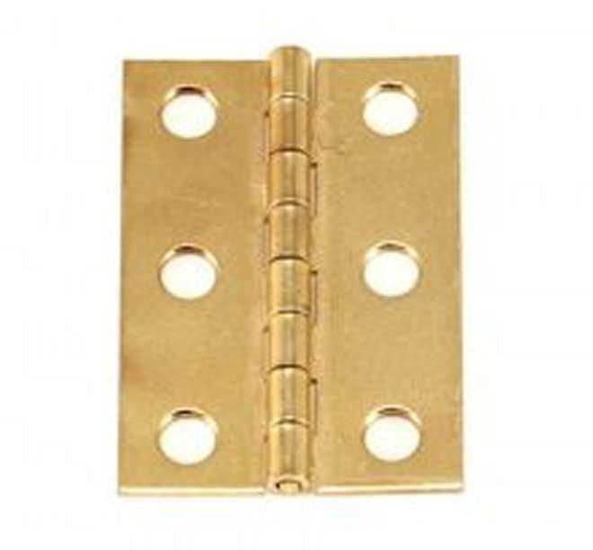 Lot of 50 (25 Pair) 2  x 1-3 8  BRASS PLATED BUTT HINGES w Screws Cabinet