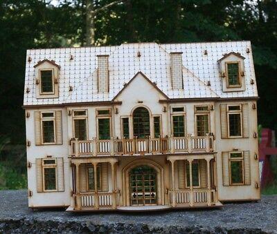 Laser Cut legno multistrato casa padronale in legno 3d Puzzle//KIT