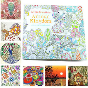 Book Coloring Kids Children Activity Adult Color Books Relax Art ...