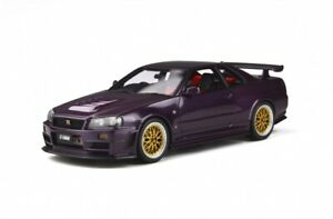 OTTO-MOBILE-811-NISSAN-SKYLINE-R34-GTR-NISMO-Z-TUNE-resin-model-car-Purple-1-18