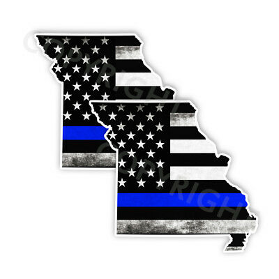 State of Idaho window vinyl sticker Various Size Thin Blue Line Decal