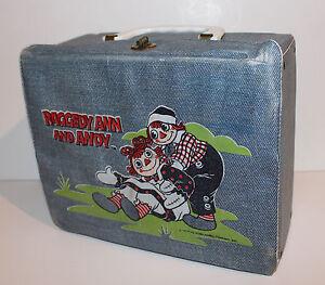 Raggedy Ann & Andy  - vintage Vinyl  lunchbox - RARE