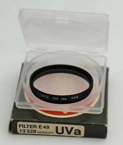 Leitz UVA 13328 E49 Black Excellent condition Condizioni eccellenti
