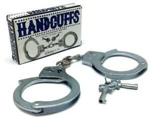 Compass-Play-Toy-Handcuffs-Cowboy-Police-Costume-Accessories-Key-Polished-Finish