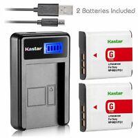 Lcd 1 Charger & Battery For Sony Np-bg1 Dsc-w300 Dsc-w30 Dsc-w35 Dsc-w50 Dsc-w55