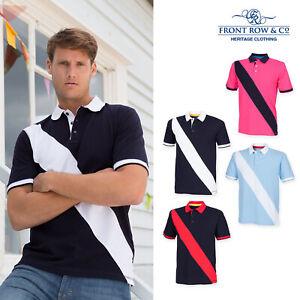 Front-Row-Diagonal-Stripe-Pique-Tag-gratuit-Polo-FR212-Tag-libre-Shirt