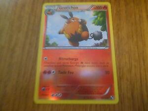 Carte-Pokemon-Unco-Holo-Reverse-Grotichon-100-PV-17-114-Noir-et-Blanc