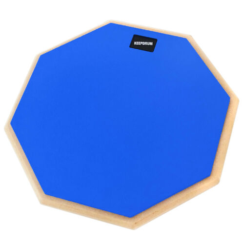 "keepdrum  DP-BL12 Drum Practice Pad Blau 12/"" Drumsticks"