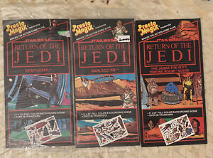 VTG-Star-Wars-Return-of-the-Jedi-Presto-Magix-Set-of-3-Jabba-the-Hut-Sarlacc-Pit