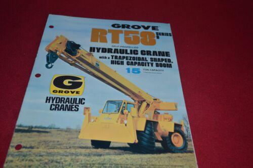 Grove RT58 Series B Crane Dealer/'s Brochure DCPA6 ver
