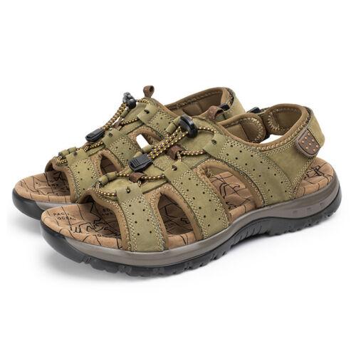 Fashion Men/'s Summer Randonnée Confortable Sandales en cuir chaussures Bout Ouvert Pêcheur Flats