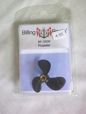 BILLING PLASTIC PROPELLER 3 BLADE 40mm M4 RIGHT HAND  #BF-393R