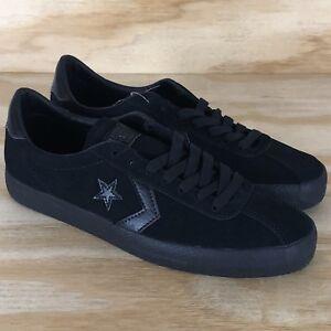 92365e654c8499 Image is loading Converse-All-Star-Break-Point-Black-Suede-Skateboarding-