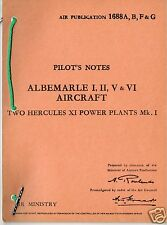 PILOT'S NOTES: ALBERMARLE UTILITY & GLIDER TUG 41pps +FREE 2-10 PAGE INFO PACK