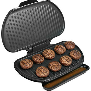 George Foreman 144 Sq. In Family Size Electric Grill, Large Champ ...