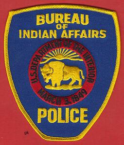 bureau indian affairs dept interior police shoulder patch alaska buffalo ebay. Black Bedroom Furniture Sets. Home Design Ideas