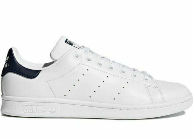 Adidas Originals Men's Stan Smith OG Shoes NEW AUTHENTIC White/Dark Blue  M20325