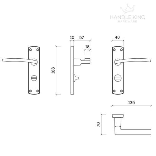 Satin Chrome Door Handles Modern Door Handles on Backplate