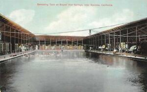 Swimming-Tank-at-Boyes-039-Hot-Springs-near-Sonoma-California-ca-1910s-Postcard