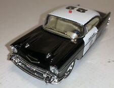 "New 5/"" Kinsmart 1957 Chevrolet Bel Air Police Car 1:40 Chevy Cop Diecast Model"