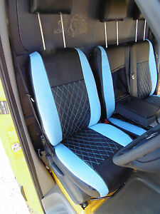 MERCEDES SPRINTER W907 18/> BLK TAILORED WATERPROOF FRONT SEAT COVERS 1+2 H//DUTY