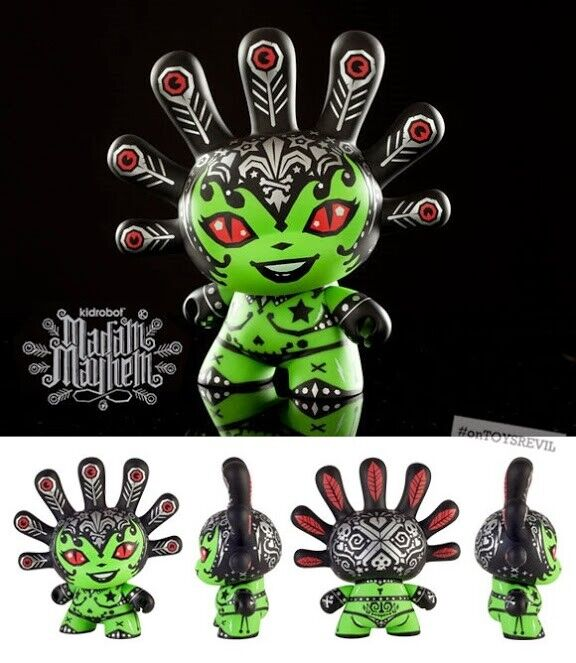 Kidrobot X KRONK Signora Mayhem dunny 8  cifra in Vinile ARTE QUALITA Qee kaws