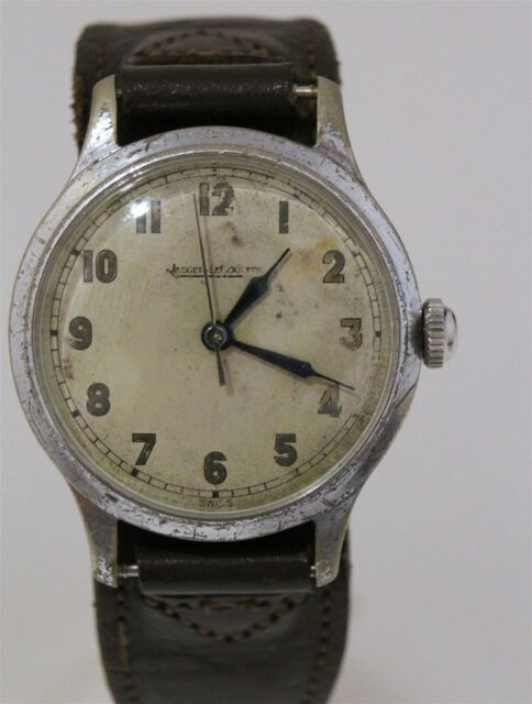 Vintage WW2 Jaeger LeCoultre 6B/159 Military Wrist Watch for Parts/Repair
