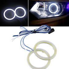 2xUniversal Car 70mm 81-SMD COB LED Halo Ring Light DRL Fog Headlight Angel Eyes