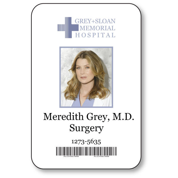Meredith Grey Name Badge Halloween Costume Greys Anatomy Tv Series
