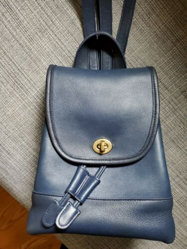 Vintage COACH #9960 Daypack in Blue