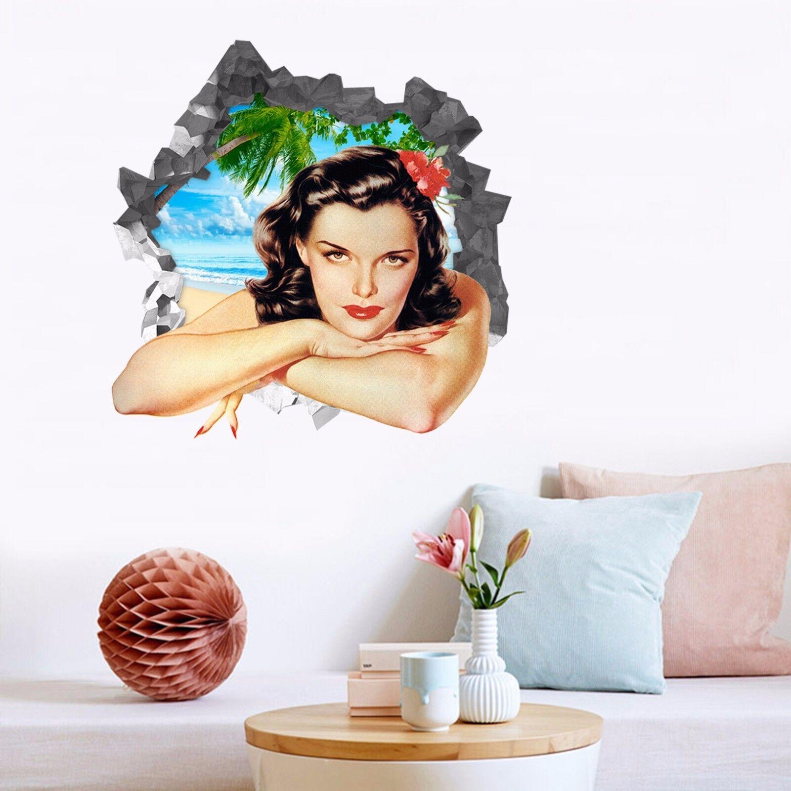 3D  Schönheit 888  Mauer Murals Mauer Aufklebe Decal Durchbruch AJ WALLPAPER DE