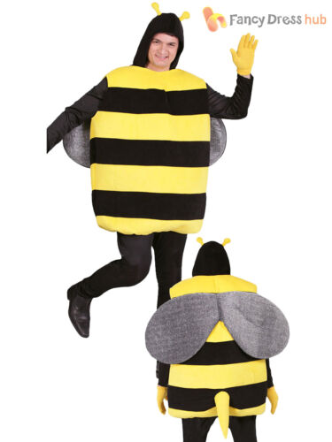 Adults Bumble Bee Costume Mens Ladies Insect Fancy Dress Stag Do Novelty Outfit