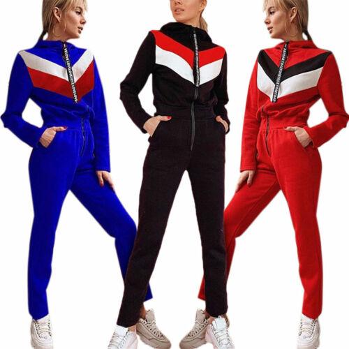 Womens Hoodie Tracksuit Sweatshirt Tops Pants Set Sport Loungewear Sweat Suits
