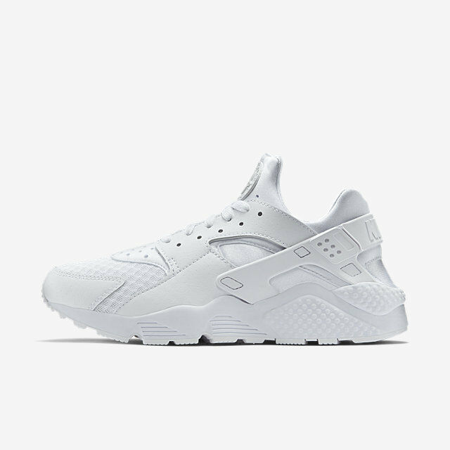 Nike Air Huarache Run Triple All White Pure Platinum 318429 111 Size 8-13