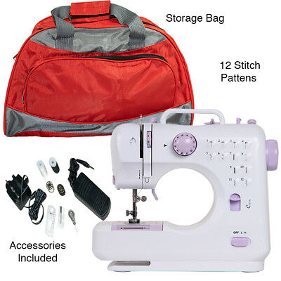 Mini Sewing Machine 12 Stitches, Portable Ideal for Children, Beginner & Bag | eBay