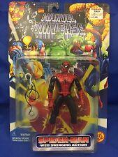 Web Swinging Red Black Spiderman Marvel Universe Action Figure MOC ToyBiz 90s