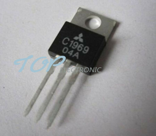 10PCS 2SC1969 C1969 TO-220 RF POWER HF//VHF TRANSISTOR EPITAX