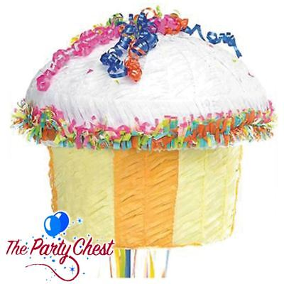 Peachy Cupcake Pull String Pinata Birthday Cake Party Game Birthday Fun Funny Birthday Cards Online Alyptdamsfinfo