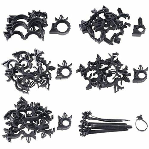 56Pcs Car Wire Loom Routing Clips Assortment Different Sizes FREE SHIP