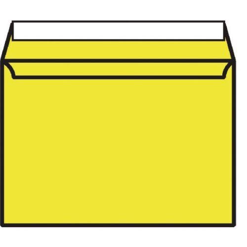 C5 Wallet Envelope Peel and Seal 120gsm Banana Yellow BLK93019 Pack of 250