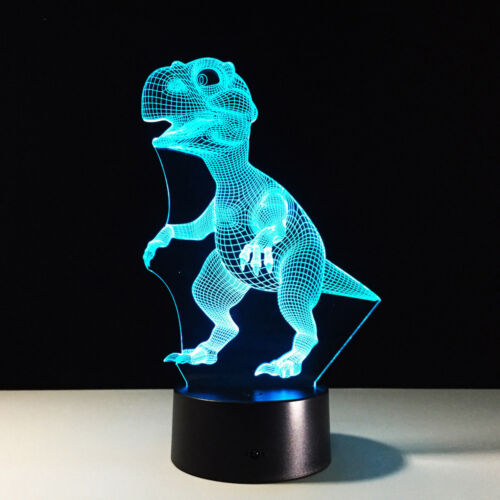 3D Dinosaur LED Night Light 7 Colors Changing Children Bedroom Decor Lamps Gifts