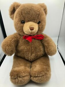 Vintage-Gund-1983-Bear-Brown-Teddy-Plush-Soft-Stuffed-Toy-Animal-Doll