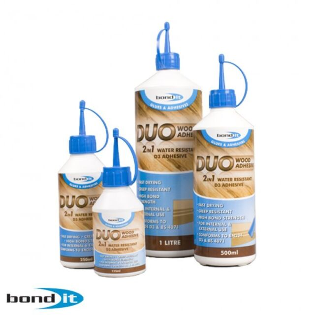 125ml BOND IT 2 in 1 PVA Wood Glue Adhesive Fast drying and water resistant