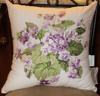 Waverly Sweet Violets Trio Bed Throw Pillows Nwt, 1st Quality