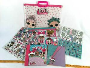 LOL-Surprise-Lot-of-6-Arts-Crafts-Scrapbook-Stickers-Carry-Tote-Handbag-Case