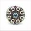 thumbnail 4 - MCL Matthew Campbell Laurenza Sapphire Enamel Retro Ring Sterling Silver Sz 5.5